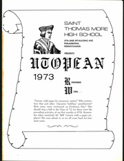 Page 7, 1973 Edition, St Thomas More High School - Utopian Yearbook (Philadelphia, PA) online yearbook collection