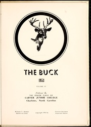 Page 5, 1953 Edition, Carver College - Carveran / Buck Yearbook (Charlotte, NC) online yearbook collection
