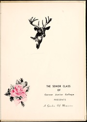 Page 7, 1953 Edition, Carver College - Carveran / Buck Yearbook (Charlotte, NC) online yearbook collection