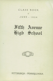 Page 5, 1924 Edition, Fifth Avenue High School - Archer Yearbook (Pittsburgh, PA) online yearbook collection