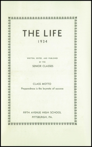 Page 5, 1934 Edition, Fifth Avenue High School - Archer Yearbook (Pittsburgh, PA) online yearbook collection
