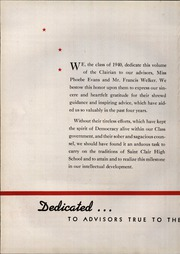Page 16, 1940 Edition, St Clair High School - Clairian Yearbook (St Clair, PA) online yearbook collection