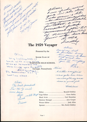 Page 5, 1959 Edition, Carnegie High School - Voyager Yearbook (Carnegie, PA) online yearbook collection