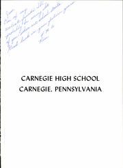 Page 5, 1962 Edition, Carnegie High School - Voyager Yearbook (Carnegie, PA) online yearbook collection