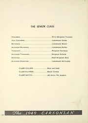 Page 16, 1949 Edition, Carson Long Military Institute - Carsonian Yearbook (New Bloomfield, PA) online yearbook collection
