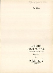 Page 5, 1947 Edition, Arnold High School - Arlion Yearbook (Arnold, PA) online yearbook collection