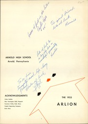 Page 5, 1955 Edition, Arnold High School - Arlion Yearbook (Arnold, PA) online yearbook collection