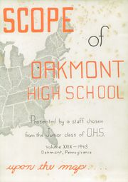 Page 7, 1945 Edition, Oakmont High School - Yearbook (Oakmont, PA) online yearbook collection