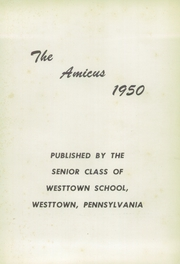Page 7, 1950 Edition, Westtown High School - Yearbook (Westtown, PA) online yearbook collection
