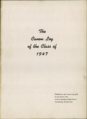 Page 5, 1947 Edition, Canonsburg High School - Canon Log Yearbook (Canonsburg, PA) online yearbook collection