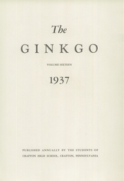 Page 7, 1937 Edition, Crafton High School - Ginkgo Yearbook (Crafton, PA) online yearbook collection