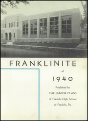 Page 7, 1940 Edition, Franklin High School - Franklinite Yearbook (Franklin, PA) online yearbook collection