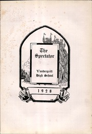 Page 7, 1928 Edition, Vandergrift High School - Spectator Yearbook (Vandergrift, PA) online yearbook collection