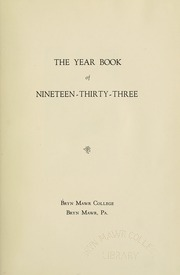 Page 7, 1933 Edition, Bryn Mawr College - Bryn Mawr Yearbook (Bryn Mawr, PA) online yearbook collection