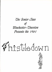 Page 5, 1961 Edition, Winchester Thurston School - Thistledown Yearbook (Pittsburgh, PA) online yearbook collection