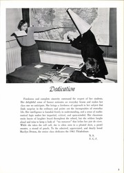 Page 7, 1961 Edition, Winchester Thurston School - Thistledown Yearbook (Pittsburgh, PA) online yearbook collection