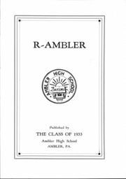 Page 2, 1933 Edition, Ambler High School - Pinnacle Yearbook (Ambler, PA) online yearbook collection