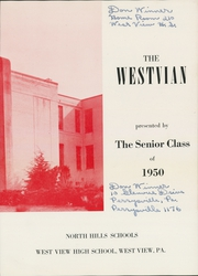 Page 7, 1950 Edition, West View High School - Westvian Yearbook (West View, PA) online yearbook collection
