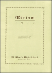 Page 5, 1927 Edition, St Marys High School - Cor Mariae Yearbook (Wilkes Barre, PA) online yearbook collection
