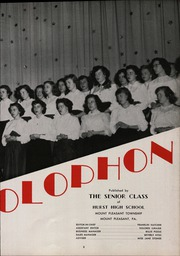 Page 7, 1951 Edition, Hurst High School - Colophon Yearbook (Mount Pleasant, PA) online yearbook collection