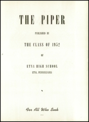 Page 7, 1952 Edition, Etna High School - Piper Yearbook (Etna, PA) online yearbook collection