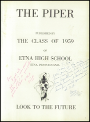 Page 5, 1959 Edition, Etna High School - Piper Yearbook (Etna, PA) online yearbook collection