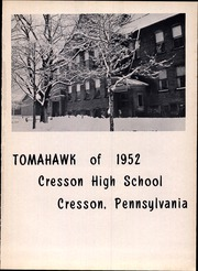 Page 5, 1952 Edition, Cresson Joint High School - Tomahawk Yearbook (Cresson, PA) online yearbook collection