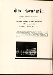 Page 6, 1955 Edition, Sacred Heart College - Gradatim Yearbook (Belmont, NC) online yearbook collection