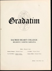 Page 5, 1966 Edition, Sacred Heart College - Gradatim Yearbook (Belmont, NC) online yearbook collection