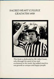 Page 5, 1978 Edition, Sacred Heart College - Gradatim Yearbook (Belmont, NC) online yearbook collection