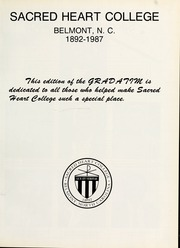 Page 13, 1987 Edition, Sacred Heart College - Gradatim Yearbook (Belmont, NC) online yearbook collection