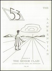 Page 5, 1953 Edition, Lawrence Park High School - Lawrentian Yearbook (Erie, PA) online yearbook collection