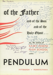 Page 7, 1958 Edition, Saint Joseph High School - Pendulum Yearbook (Pittsburgh, PA) online yearbook collection