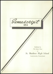 Page 5, 1954 Edition, St Matthews High School - Samascript Yearbook (Conshohocken, PA) online yearbook collection