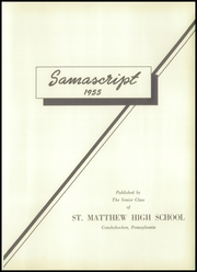 Page 5, 1955 Edition, St Matthews High School - Samascript Yearbook (Conshohocken, PA) online yearbook collection