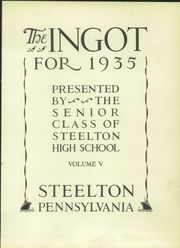 Page 9, 1935 Edition, Steelton High School - Ingot Yearbook (Steelton, PA) online yearbook collection