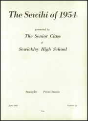 Page 7, 1954 Edition, Sewickley High School - Sewickley Yearbook (Herminie, PA) online yearbook collection