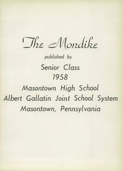 Page 5, 1958 Edition, Masontown High School - Mondike Yearbook (Masontown, PA) online yearbook collection