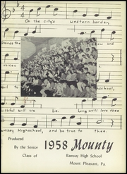 Page 5, 1958 Edition, Ramsay High School - Mounty Yearbook (Mount Pleasant, PA) online yearbook collection