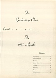 Page 7, 1951 Edition, Snowden High School - Aquila Yearbook (Library, PA) online yearbook collection
