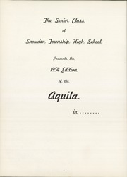 Page 6, 1954 Edition, Snowden High School - Aquila Yearbook (Library, PA) online yearbook collection