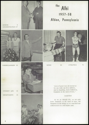 Page 6, 1958 Edition, Albion High School - Alhi Yearbook (Albion, PA) online yearbook collection
