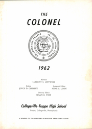 Page 7, 1962 Edition, Collegeville Trappe High School - Colonel Yearbook (Trappe, PA) online yearbook collection