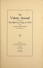 Page 9, 1923 Edition, Lancaster High School - Vidette Yearbook (Lancaster, PA) online yearbook collection