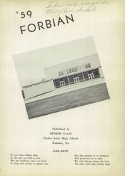 Page 5, 1959 Edition, Forbes High School - Forbian Yearbook (Kantner, PA) online yearbook collection