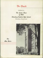 Page 5, 1953 Edition, Cambria High School - Oracle Yearbook (Ebensburg, PA) online yearbook collection