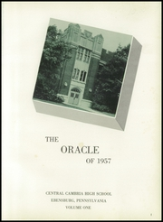 Page 5, 1957 Edition, Cambria High School - Oracle Yearbook (Ebensburg, PA) online yearbook collection