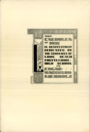 Page 6, 1921 Edition, Polytechnic High School - Caerulea Yearbook (Long Beach, CA) online yearbook collection
