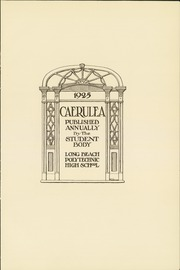 Page 7, 1925 Edition, Polytechnic High School - Caerulea Yearbook (Long Beach, CA) online yearbook collection