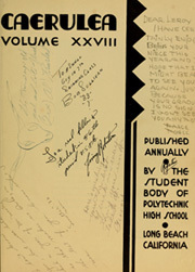 Page 7, 1931 Edition, Polytechnic High School - Caerulea Yearbook (Long Beach, CA) online yearbook collection